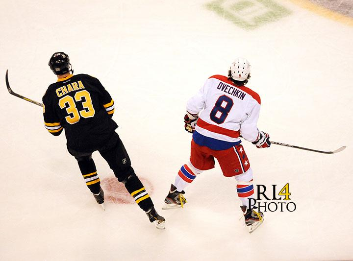 Zdeno Chara and Alex Ovechkin